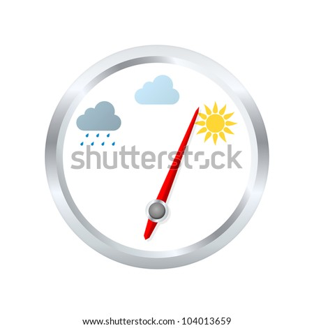 Barometer aneroid indicates sunny weather. Vector illustration - stock vector