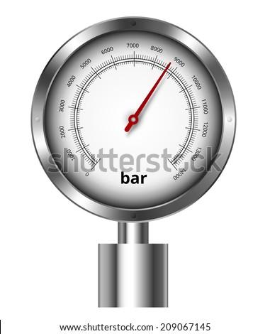 Barometer industrial manometer  vector illustration - stock vector