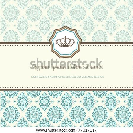 Baroque card - stock vector