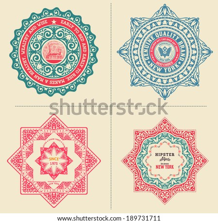 Baroque designs set. Organized by layers. - stock vector