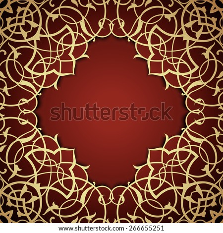 Baroque filigree frame in Victorian style. Ornamental lace pattern for design.Vector illustration - stock vector