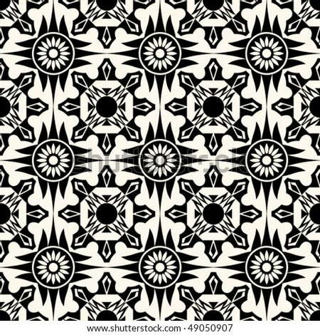 baroque floral pattern, seamless vector background