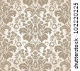 Baroque Seamless Pattern - stock photo