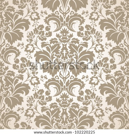 Baroque Seamless Pattern - stock vector