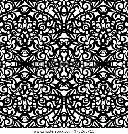 Baroque Style Pattern, vector seamless pattern - stock vector