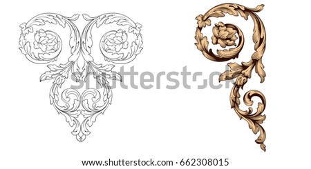 Baroque stock images royalty free images vectors for Baroque design elements
