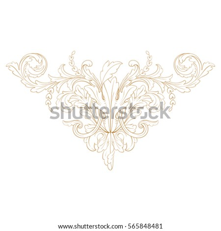 Drawing Fantastic Flower Garland Curls Angular Stock