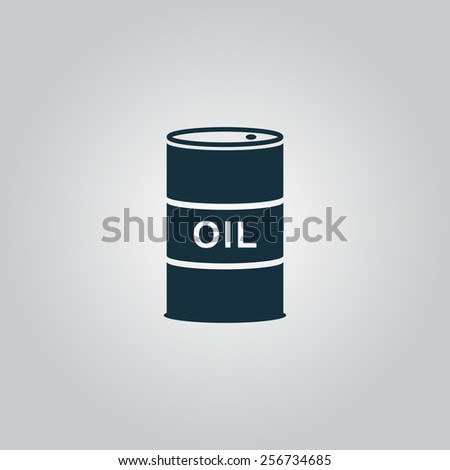 Barrels of oil. Flat web icon, sign or button isolated on grey background. Collection modern trend concept design style vector illustration symbol - stock vector