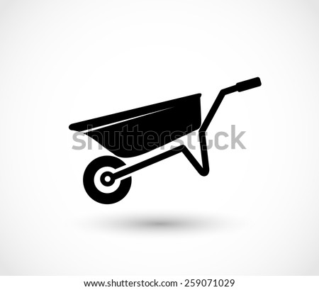 Barrow icon vector - stock vector