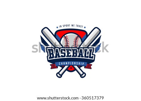 Baseball logo stock images royalty free images vectors for Baseball shirt designs template