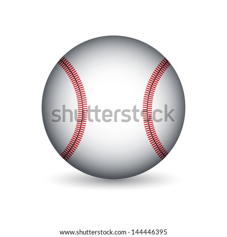 Baseball ball. EPS10 vector