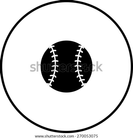 baseball ball symbol - stock vector