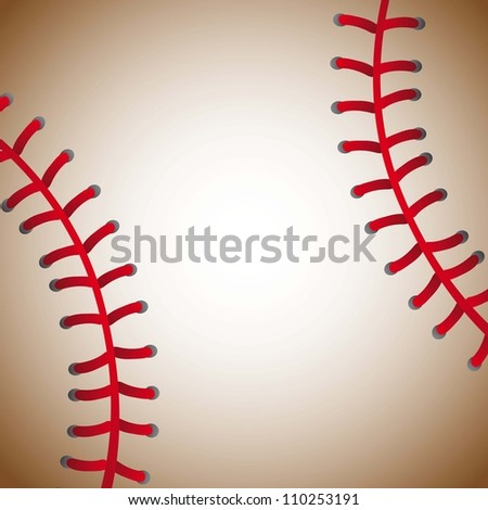 baseball ball texture background, old. vector illustration - stock vector