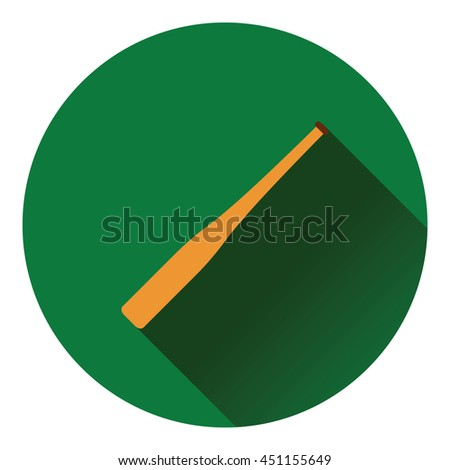 Baseball bat icon. Flat color design. Vector illustration. - stock vector