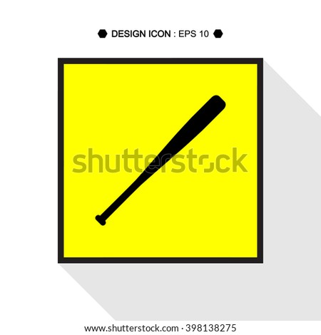 Baseball Bat icon Vector EPS10, Great for any use. - stock vector