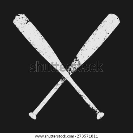Baseball Bats Vector Icon - stock vector