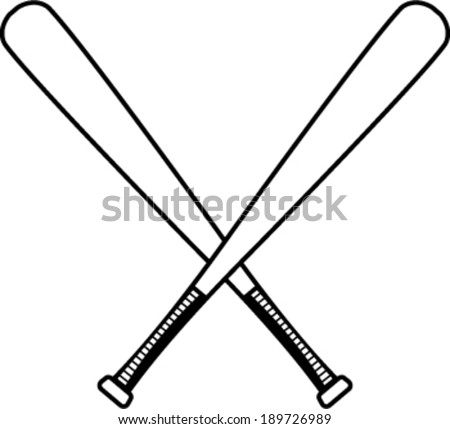 Baseball bats vector illustration - stock vector