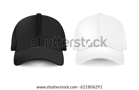 Baseball Cap Collection Gradient Mesh, Vector Illustration