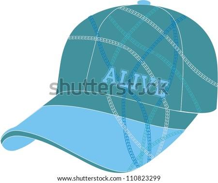 Baseball cap for girls and boys - stock vector