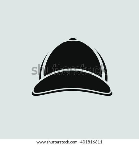 baseball cap icon - stock vector