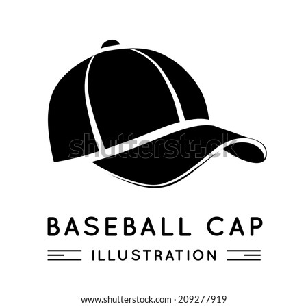 Baseball Cap in Flat Style. Vector illustration - stock vector