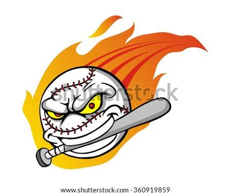 flaming baseball stock images royalty free images vectors rh shutterstock com Flaming Baseball Wallpaper Black and White Flaming Baseball Logo