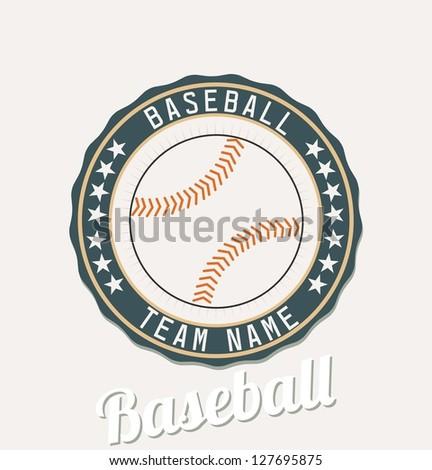 Baseball club emblem - stock vector