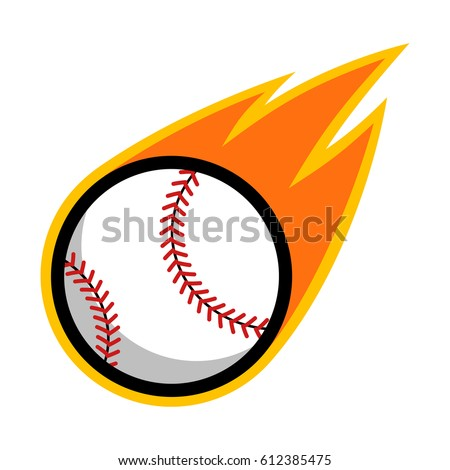 Baseball comet fire tail flying