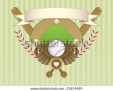 Baseball Crest - stock vector