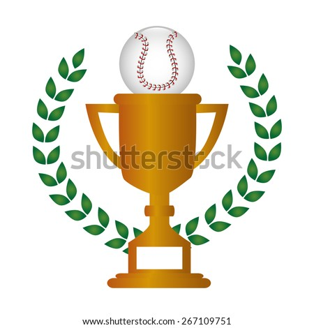 Baseball design over white background, vector illustration.