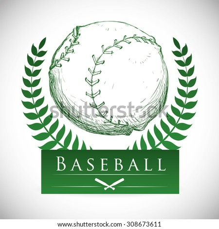Baseball digital design, vector illustration 10 eps graphic