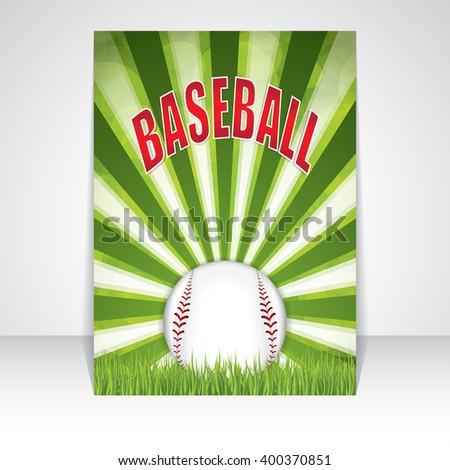 Baseball flyer.Vector illustration - stock vector
