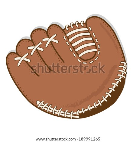 Baseball glove or mitt vector on a transparent background - stock vector