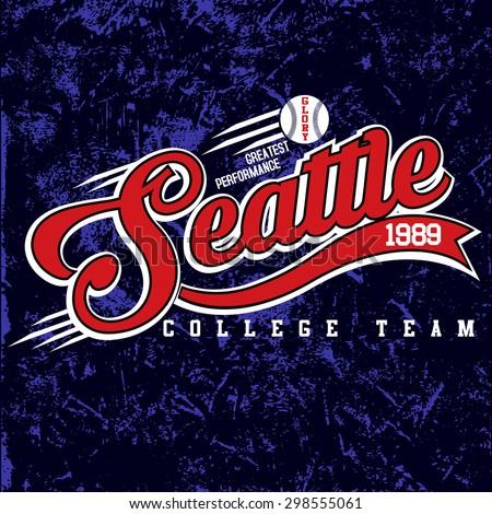 baseball graphics,vintage graphics,college graphics,sports graphics for t-shirt - stock vector