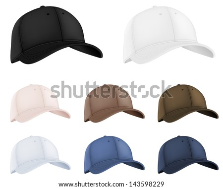 Baseball hats template. - stock vector