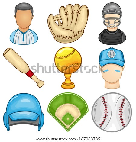 Baseball Icon - Sport - Illustration - stock vector