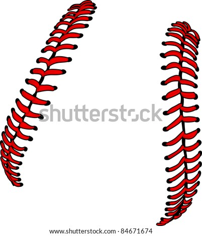 Baseball Laces or Softball Laces Vector Image - stock vector