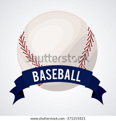 baseball league design  - stock vector