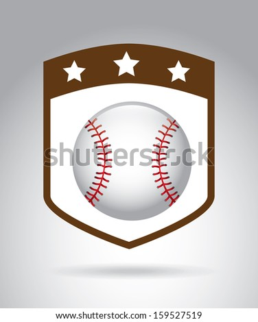baseball league over gray background vector illustration