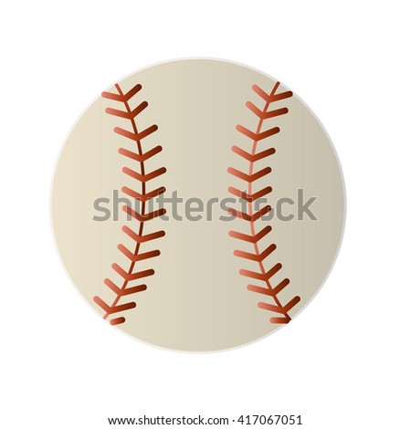 Baseball line art icon for sports apps and websites - stock vector