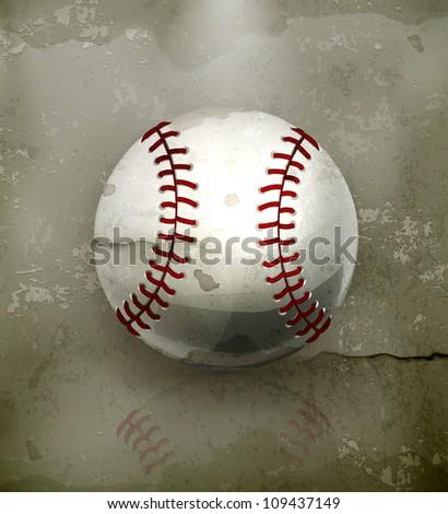 Baseball, old-style vector - stock vector