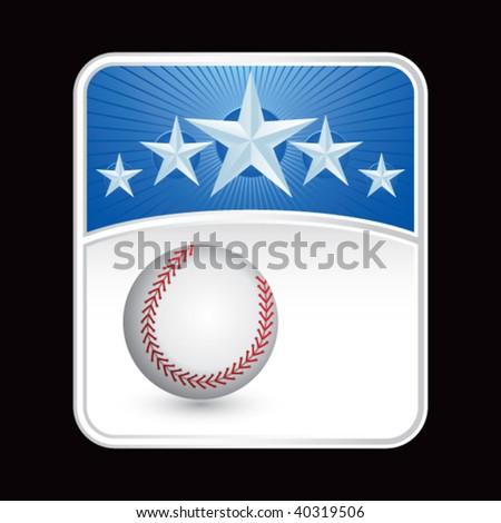baseball on superstar background - stock vector