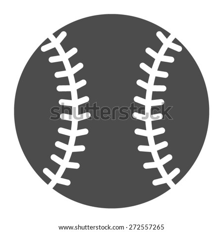 Baseball or baseball homerun flat icon for sports apps and websites - stock vector