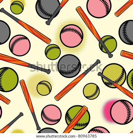 Baseball pattern. - stock vector