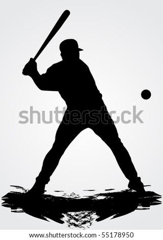 Baseball player, vector illustration - stock vector