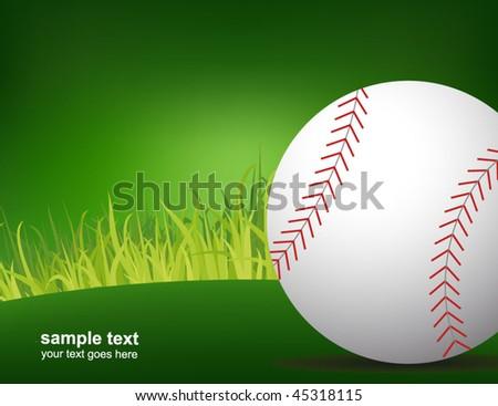 baseball poster - stock vector