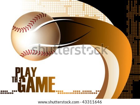 Baseball poster background. Vector illustration. - stock vector