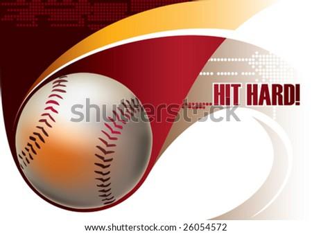 Baseball poster. Vector illustration. - stock vector