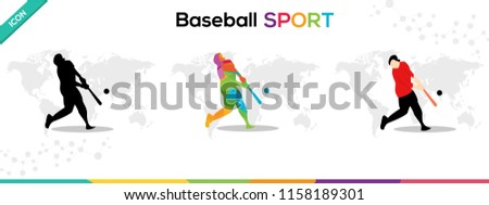 Baseball Sports Games Man Character vector Illustration Eps 10