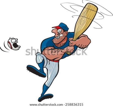 Baseball Stud - stock vector